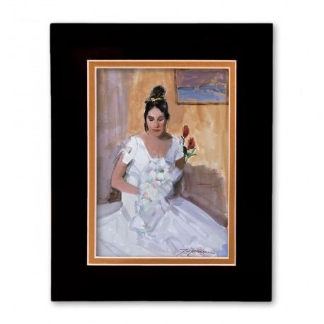 """Bella - Lovely One"" Matted Print, art by Israel Martinez"