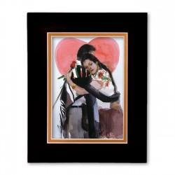 """Amor Verdadero - True Love"" Matted Print, art by Israel Martinez"