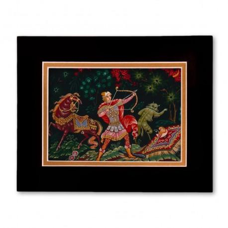"""""""Ivan Sarevich"""" Matted Print with Artwork of Russian Lacquer Boxes"""