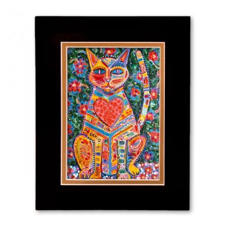 """""""Love Cat"""" Matted Print, art by Tony DiAngelis"""