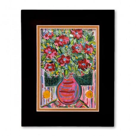 """""""Electric Florals #2"""" Matted Print, art by Tony DiAngelis"""
