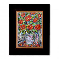 """Electric Florals #3"" Matted Print, art by Tony DiAngelis"
