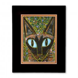 """Yesiam a Cat"" Matted Print, art by Tony DiAngelis"