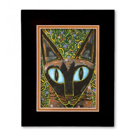 """""""Yesiam a Cat"""" Matted Print, art by Tony DiAngelis"""