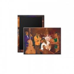 """The Burgandy Room Band"" Magnet, art by Carlos Spivey"