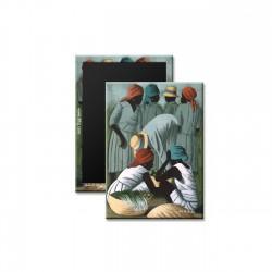 """Market Scene"" Magnet, art by Claude Dambreville"