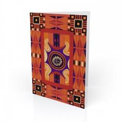 """Nubian Afgan"" Greeting Card, artwork by Charles Grant"