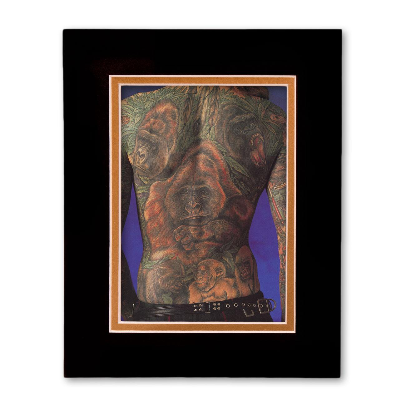Gorillas in the mist gift set tattoo art by ian of reading for Gifts for tattoo artist